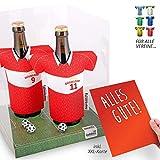 vereins-Trikot-kühler Away für Fortuna-Fans | 2er Geschenk-Box-Edition| 2X Trikots | Fußball Fanartikel Jersey Bierkühler by ligakakao.de