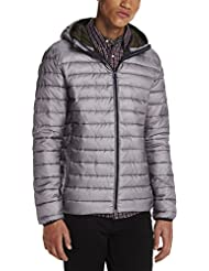 Scotch & Soda Classic Quilted Hooded Jacket In Nylon Quality, Sweat-Shirt à Capuche Homme