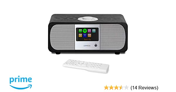 AUX-in Spotify WiFi FM Radio LEMEGA M3+ Smart Music System with Wireless Internet Radio App /& Remote Control Bluetooth Headphone-Out 2.1 Channel Stereo Speaker Alarms USB MP3 Black Oak