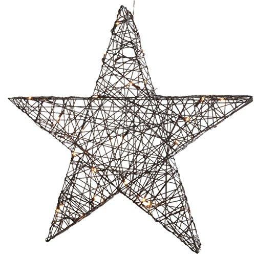 Étoile LED en osier de KAEMINGK - pour l'extérieur - blanc chaud - 7 x 50 x 47 cm - 24 LED