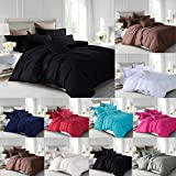 Lawrance Caprino® 100% ägyptische Baumwolle, Bettbezug Bettwäsche-Set für Doppelbett, King Size Bettwäsche, pflaume, King Size
