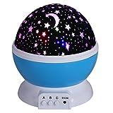 Projektor Lampe Star Schlafzimmer Licht Nachtlicht Sternenhimmelprojektor Beleuchtung mit 4