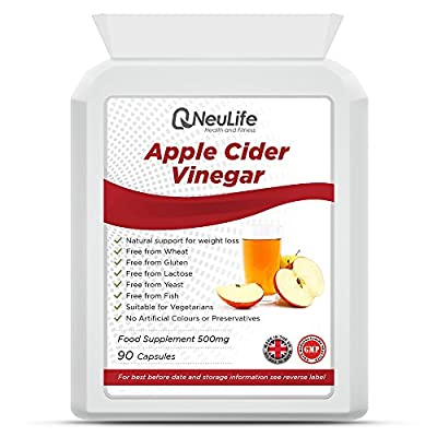 Apple Cider Vinegar 35% 400mg - 90 Capsules by Neulife Health and Fitness