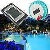 300ft Professional kabellos Digital Schwimmbad Spa Schwimmendes Thermometer Transmitter mit Innentemperatur, Hintergrundbeleuchtung, Datum und Alarm-Funktion