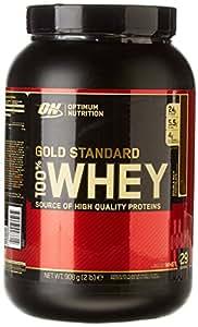 Optimum Nutrition Gold Standard 100% Whey Protein Powder, Double Rich Chocolate, 908g