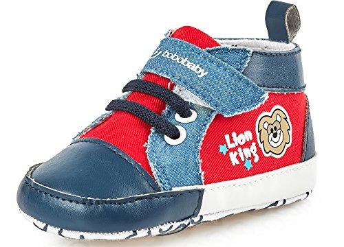 Bobobaby Bébé Chaussons Chaussures pour Bébés ZB-70 Rouge