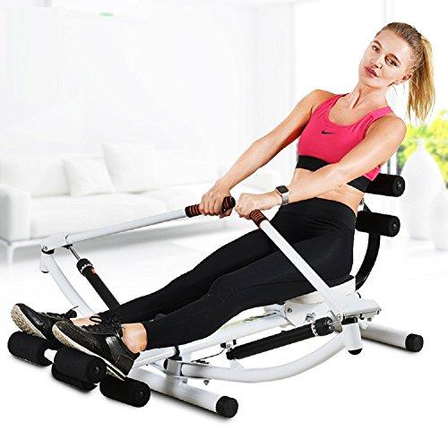 VIO Sport-Rudergerät Home Multifunktionales Abdominal- Innenfitness-Trainingsgerät,Weiß,Einheitsgröße