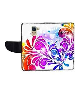 KolorEdge Printed Flip Cover For Huawei Honor 7 Multicolor - (1478-50KeMLogo12138Honor7)
