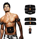 Abdominal Muscle Trainer Ab Toning Belt, Muscle Toner Ab Belts Core Training Gear Ab Exercise Machine Waist Trainer, Belly Support Belt Home Gym Equipment Fitness Machine Orange