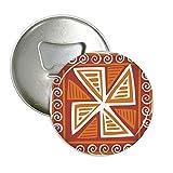 Braun Windmühle Mexiko Totems uralte Zivilisation, rund Flaschenöffner Kühlschrank Magnet Pins Badge Button Geschenk 3