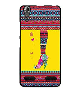 PrintDhaba Tribal Pattern D-4169 Back Case Cover for LENOVO A6000 PLUS (Multi-Coloured)