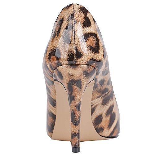MERUMOTE - tacco alto sottile donna Leopard-Patent