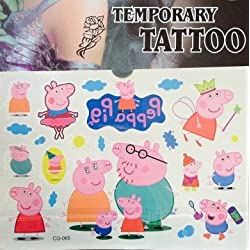 PARTY PROPZ Peppa Pig Child Temporary Tattoo / Body Art Tattoo/ Stickers