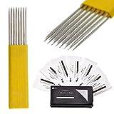 Microblading Aiguilles Lames Ombrage Tatouage Des Sourcils Jetables 17 Pin CRYSTALUM (10)