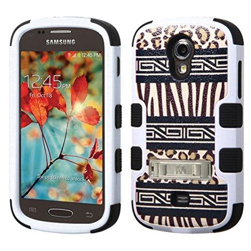 MyBat Samsung T399(Galaxy Light) Tuff Hybrid Displayschutzfolie Cover mit Stand-Retail Verpackung-Schwarz (Für Cover Samsung T399)