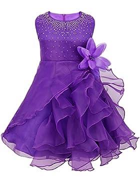 Tiaobug Baby Mädchen Kleid Prinzessin Hochzeit Taufkleid Blumenmädchen Festlich Kleid Kleinkind Festzug Kleidung