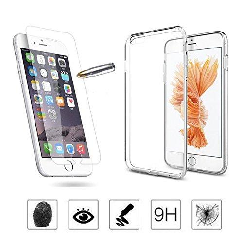 1 x Panzerglas mit 1 x Hülle [2 in 1 Set] Für Apple iPhone 6Plus / 6S Plus / 6+ / 5,5 Zoll - 3D Touch Kompatibel - Panzerglasfolie Case