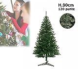 MEDIA WAVE store Albero di Natale artificiale 90 cm con 120 punte rami folti PINO DELLE SORPRESE