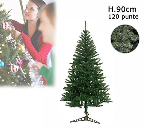Albero di Natale artificiale 90 cm con 120 punte rami folti PINO DELLE SORPRESE. MWS