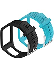 WEINISITE Silicone Ajustable Remplaçant Bracelet Pour TomTom Runner Multi Sport Smartwatch