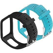 WEINISITE Ajustable Reemplazo Pulsera para TomTom Runner 1/TomTom Runner + HRM/TomTom Multi-Sport Cardio/TomTom Multi-Sport + HRM