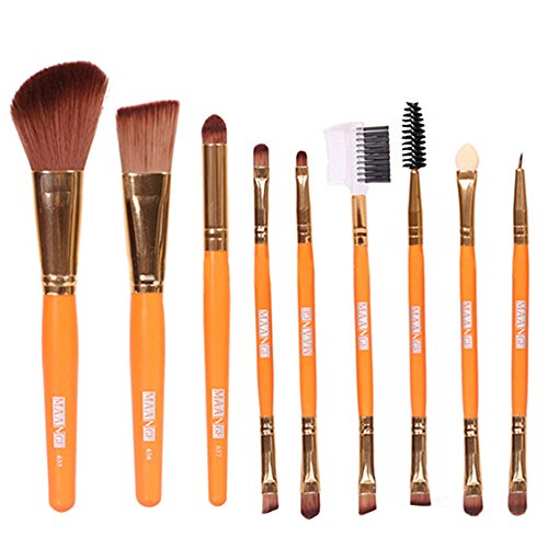 9 Blush à lèvres Maquillage Sourcils Eyeliner Brush Set Outil de maquillage beauté Pinceaux