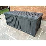Keter Anthracite Rockwood Jumbo XL Storage Box 570 litres