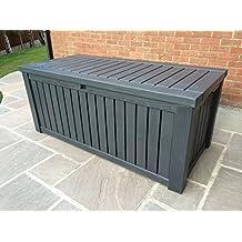 Gartenbox / Kissenbox Keter Rockwood Jumbo Deck Box 155x72x64cm