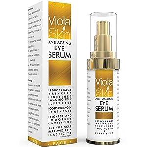 𝗣𝗥𝗘𝗠𝗜𝗨𝗠 Anti Ageing Eye Serum / Eye Cream for Dark Circles, Puffiness & Crows Feet – Anti Wrinkle Eye Serum – Reduces…