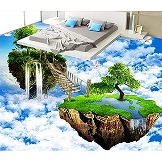 Wuyyii 3D Pavimentazione In Pvc Personalizzato Foto Impermeabile Pavimento Adesivo Air Isola Ponte Camera Da Letto Decorazione Pittura 3D Murales Carta Da Parati-250X175CM