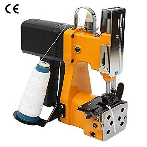 HUKOER Tragbare Nähmaschine 220V Elektrische Industrie Verpackungsmaschine für Schlangenhaut Beutel Plastiktüte Papiertüte Sack, Gelb -