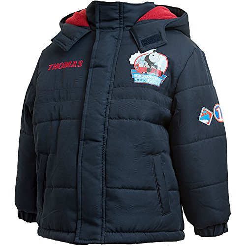 Thomas And Friends Boys Novelty Winter Hooded Lined Jacket Coat Anorak - Navy - 1/2 Years