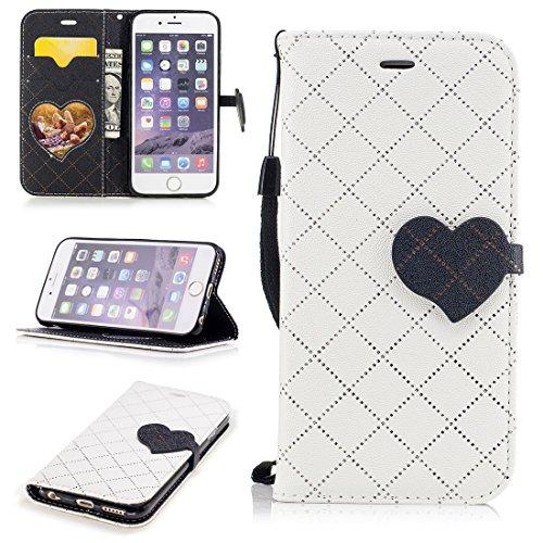 b3821b8a34741d Nancen Apple iPhone 6   6S (4,7 pouces) coque Haute Qualité PU Cuir Flip  Étui Coque de Protection Wallet   Portefeuille Case Cover Housse - Avec  Carte de ...
