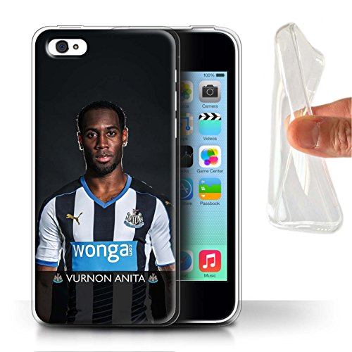 Offiziell Newcastle United FC Hülle / Gel TPU Case für Apple iPhone 5C / Colback Muster / NUFC Fussballspieler 15/16 Kollektion Anita