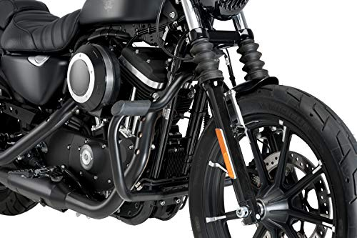 Customaccess AZ1237N Pare-Carter Modèle Mustache Noir Customacces pour Harley Davidson Sportster 1200N Nightster 08'-12'