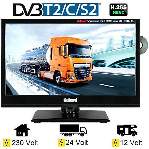 Gelhard GTV-1662 LED-TV 15,6 Zoll Fernseher Full-HD, DVD, DVB-S/S2 -C -T -T2 12V/24V/230V -
