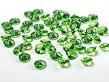 100 Diamanten grün apfelgrün hellgrün maigrün 12mm Tischdekoration Streuartikel Hochzeit Taufe
