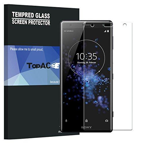 Verre Trempé Sony Xperia XZ2 Compact, TopACE Film Protection en Verre trempé écran Protecteur Vitre- ANTI RAYURES - SANS BULLES D'AIR -Ultra Résistant Dureté 9H Glass Screen Protector pour Sony Xperia XZ2 Compact (2 x Protèges-Écran)