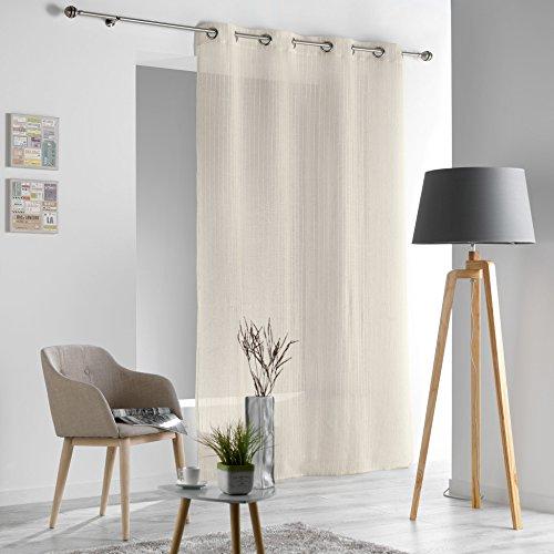 Douceur d' interno sofiane tenda con occhielli poliestere/lino naturale, neutro, 280x140x0.1 cm