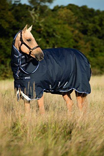 Horseware Amigo Bravo 12 Plus lite mit Halsteil navy *NEU* 3 Bauchgurte (145)