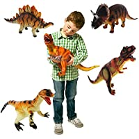 14 Inch Large Soft Foam Rubber Stuffed Dinosaur Play Toy Animals Action Figures