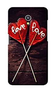 CimaCase Love Candies Designer 3D Printed Case Cover For Micromax Canvas Fire 4G Q411