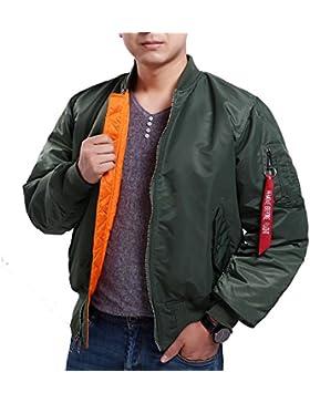 Seibertron Hombres de MA-1 Bombardero Vuelo chaqueta impermeable / Repelente de Agua verde XXL