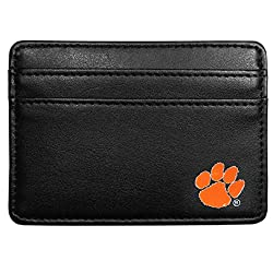NCAA Clemson Tigers Leather Weekend Wallet, Black