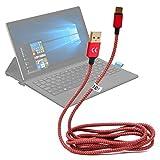 Cavo in nylon riflettente USB 2.0 - USB-C / Sync - Carica / Compatibile con tablet Alcatel Plus 12 / Archos 101 Saphir / Archos Sense 101X | Dell Latitude 11 5000 / Latitude 5285 / Latitude 5825 / Latitude 7285 – 1.5 Metri - DURAGADGET