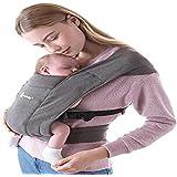 Ergobaby Embrace Babydraagzak voor pasgeborenen vanaf de geboorte, extra zacht, ergonomisch