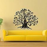 jiushivr El más Nuevo diseño Etiqueta de la Pared del árbol de la Etiqueta Adhesiva de Vinilo DIY Floral Autoadhesivo Pegatinas sofá Fondo decoración del hogar 68x56cm