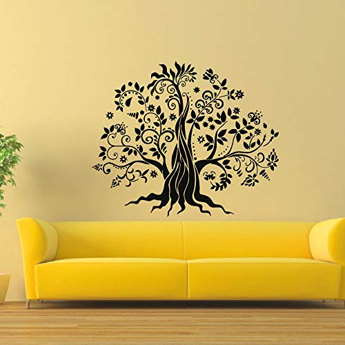 Newest Design Wall Sticker Tree Decal Removable Sticky Vinyl DIY Floral Self-Adhesive Stickers Sofa Background Home Decor L 68x56cm -