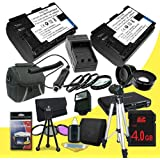 Two Canon EOS 6D Digital SLR Camera 2400 MAh LP-E6 Lithium Ion Replacement Battery + External Rapid Charger + 4GB SDHC Class 10 Memory Card + 77mm 3 Piece Filter Kit + Full Size Tripod SDHC Card USB Reader + Memory Card Wallet + Deluxe Starter Kit + 77mm