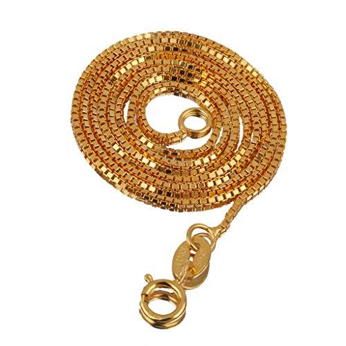 Generic Schlangenkette - Halsketten - aus 925 Sterling Silber - Ketten - Schlange Kette - Schmuck Basteln - Gold, 18inch (In 18 Silber-kette)